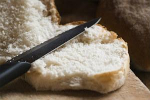 Knife on bread