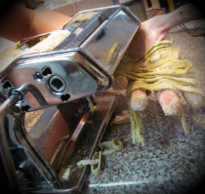 Using my Atlas pasta machine