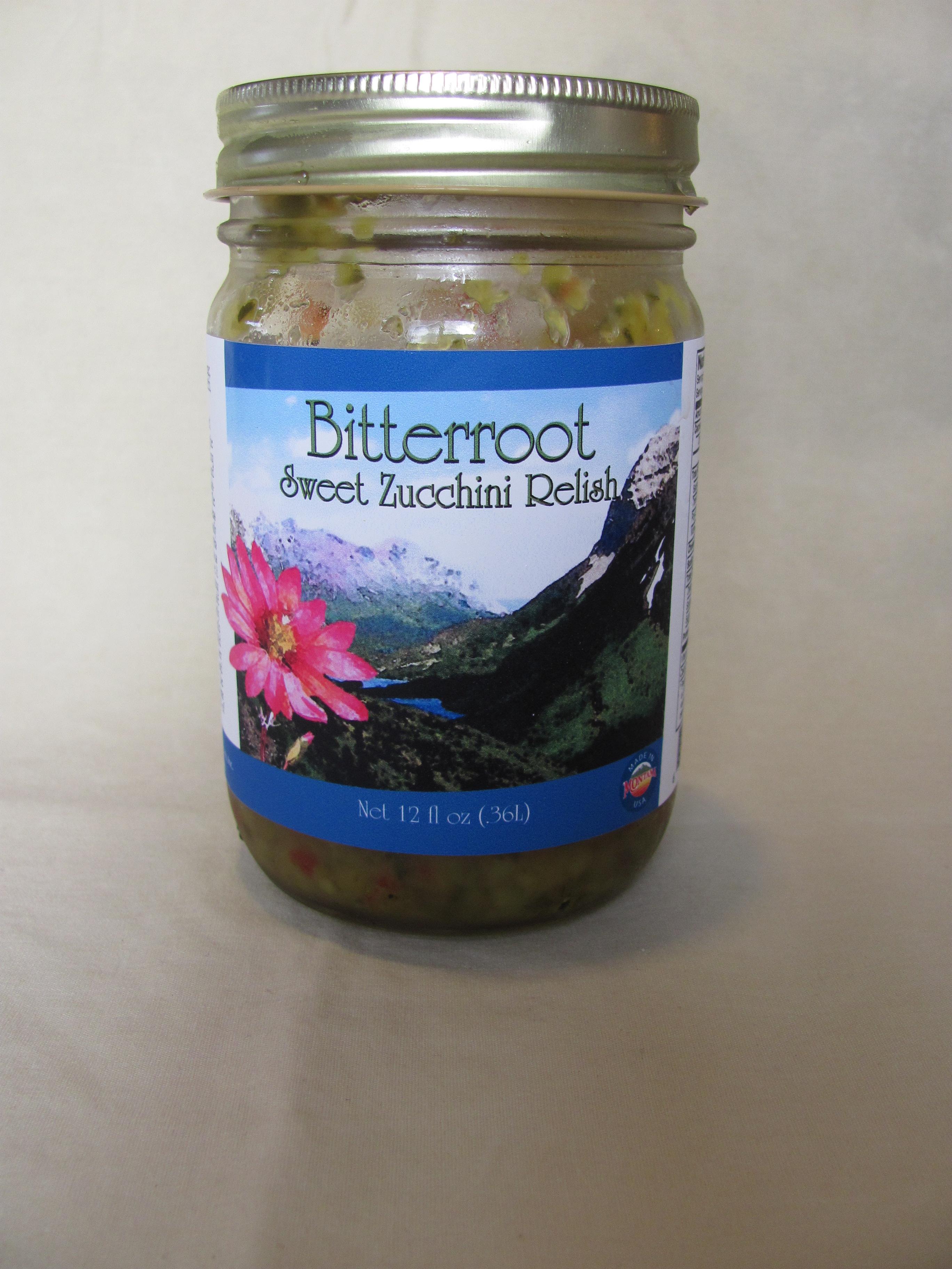 Bitterroot Sweet Zucchini Relish
