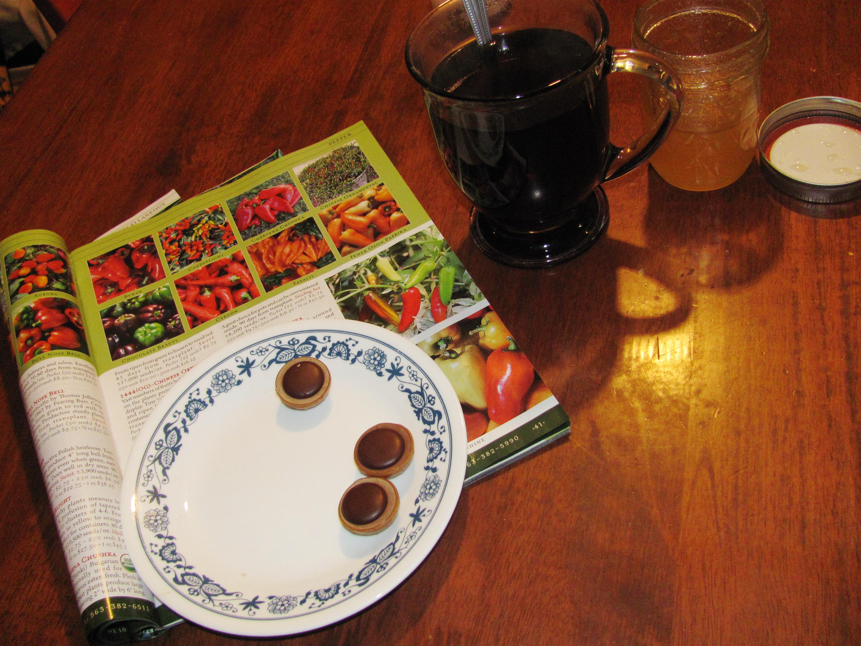 Tea, chocolate, and my catalog