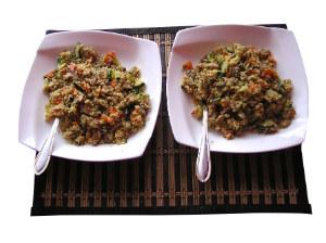 Couscous in bowls