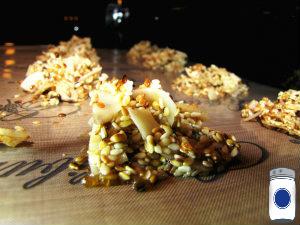 Coconut Sesame Cookies on Paraflexx Sheets