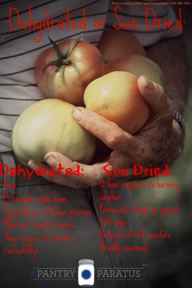 Sun Dried vs. Dehydrated