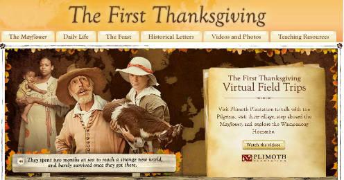 Scholastic's Thanksgiving Website
