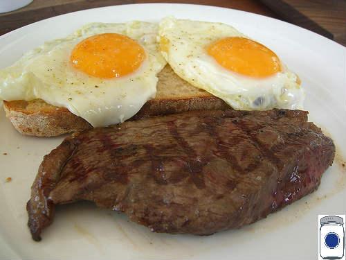 Fried Food: Steak & Eggs