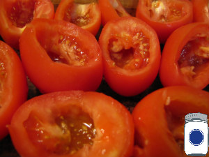 Hollow out the tomatoes