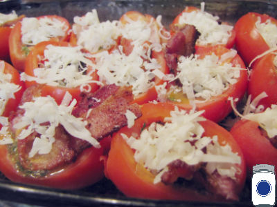 Stuffed Tomatoes with Bacon