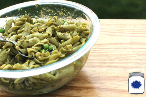 Spinach Pasta Salad with Pignolias