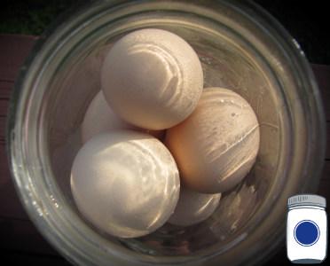 eggs in jar