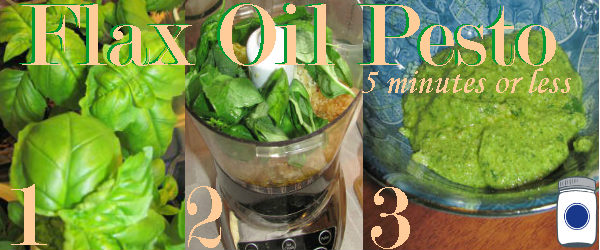 Flax Oil Pesto in 5 minutes or less