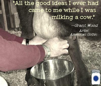 Wilson milking cow