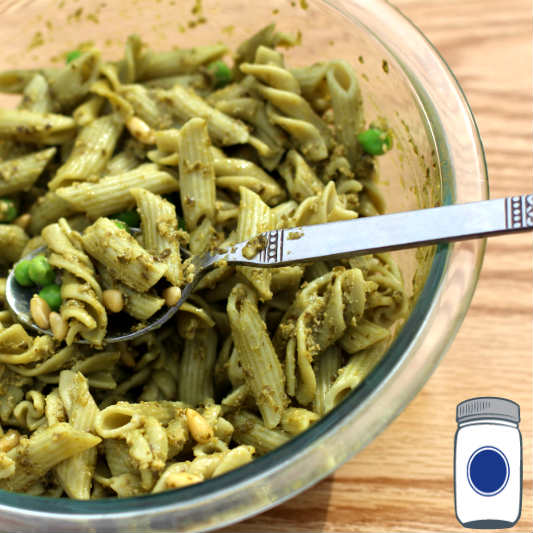 Bowl of Spinach Pasta Salad