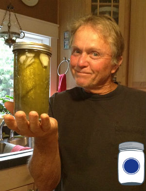 Bob with his daughter's pickles