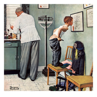 Before the Shot by Norman Rockwell