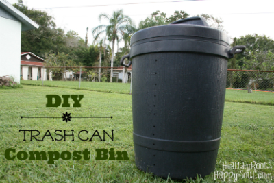 DIY Compost Bin with Garbage Can