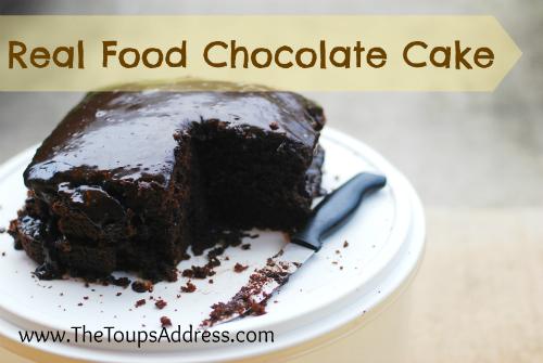 Real Food Chocolate Cake