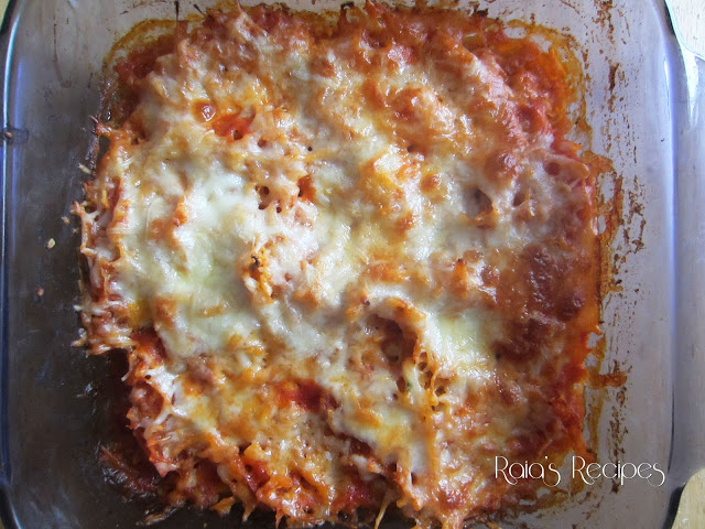 Twice Baked Spaghetti Squash Pizza