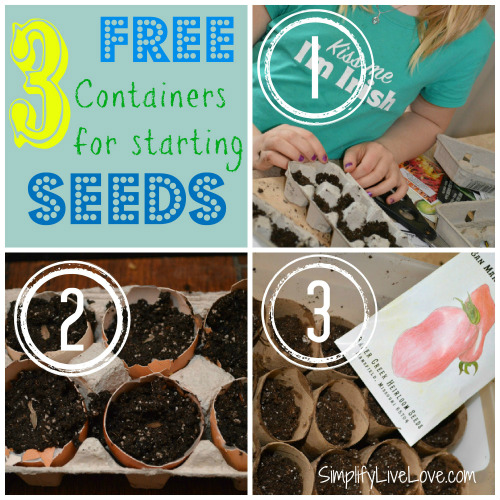 Free Containers for Starting Seeds