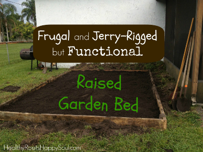 Creating a Raised Bed Frugally