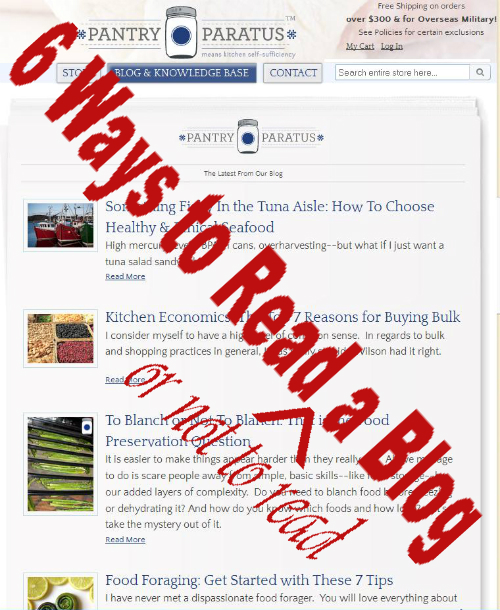 6 ways to read or not to read a blog