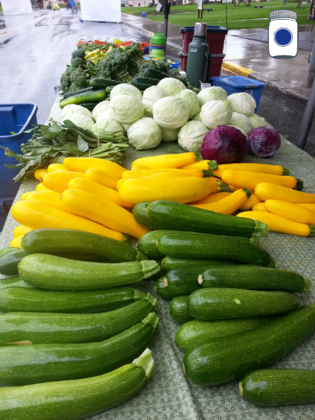 Zucchini at the Market