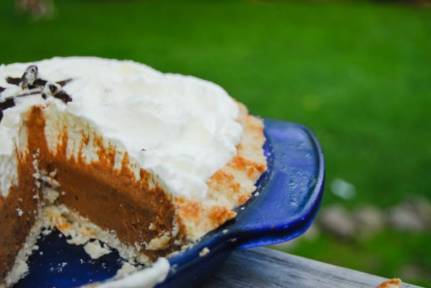 Chocolate Silk Pie by Reformation Acres