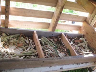 Nesting Boxes in our coop