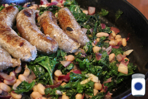 Homemade Sausages Cannellini Kale
