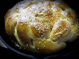 Challah Bread with Frontier Sesame Seeds