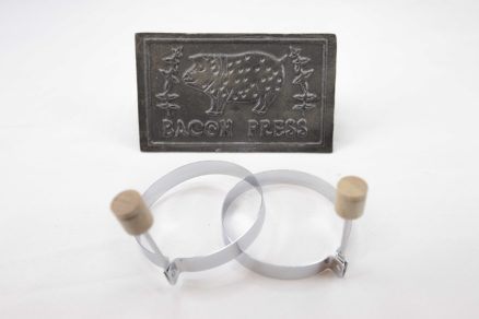 Cast Iron Press and Ring Set