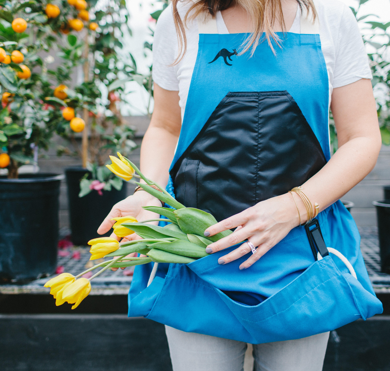 blue roo gardening apron