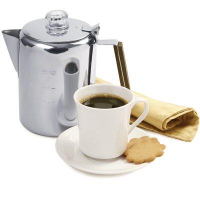 percolator with coffee