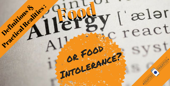 food allergy or food intolerance