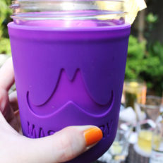 purple koozie