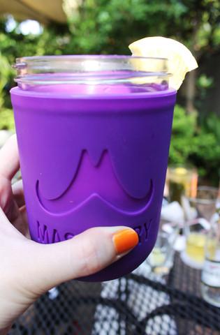 purple koozie