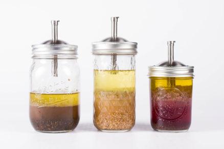 salad dressing mason jar pour spout