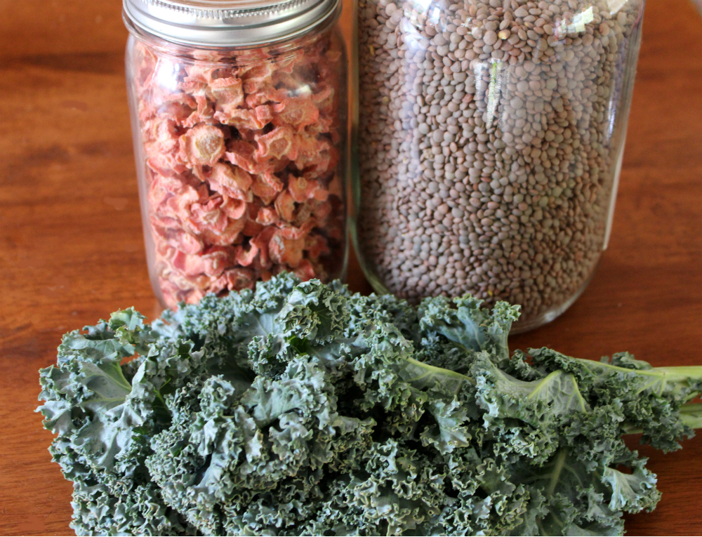 Carrots, Lentils and Kale