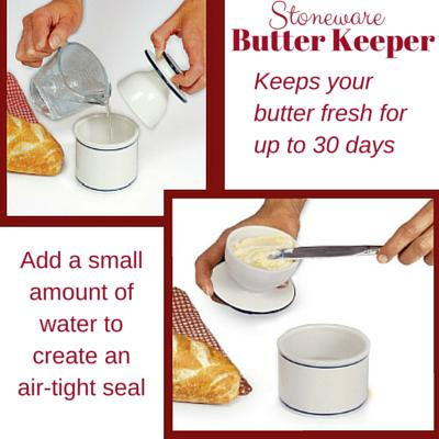 how to use  Norpro stoneware butterkeeper