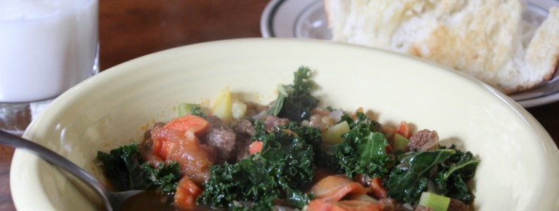 Vegetable and Sausage Soup