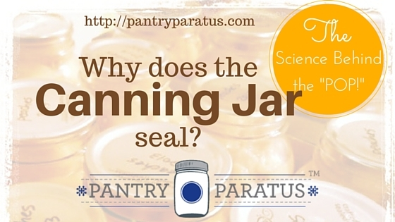 How does the canning jar seal, and what makes the pop sound?