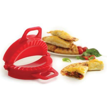 press with empanadas