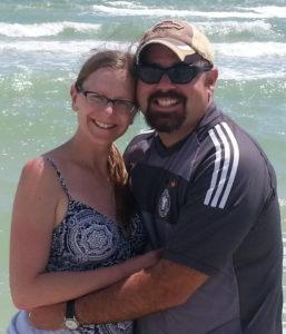Chaya and Wilson on beach