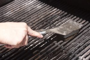 Before grilling, clean the grates