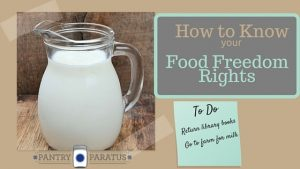 How to Know your Food Freedom Rights