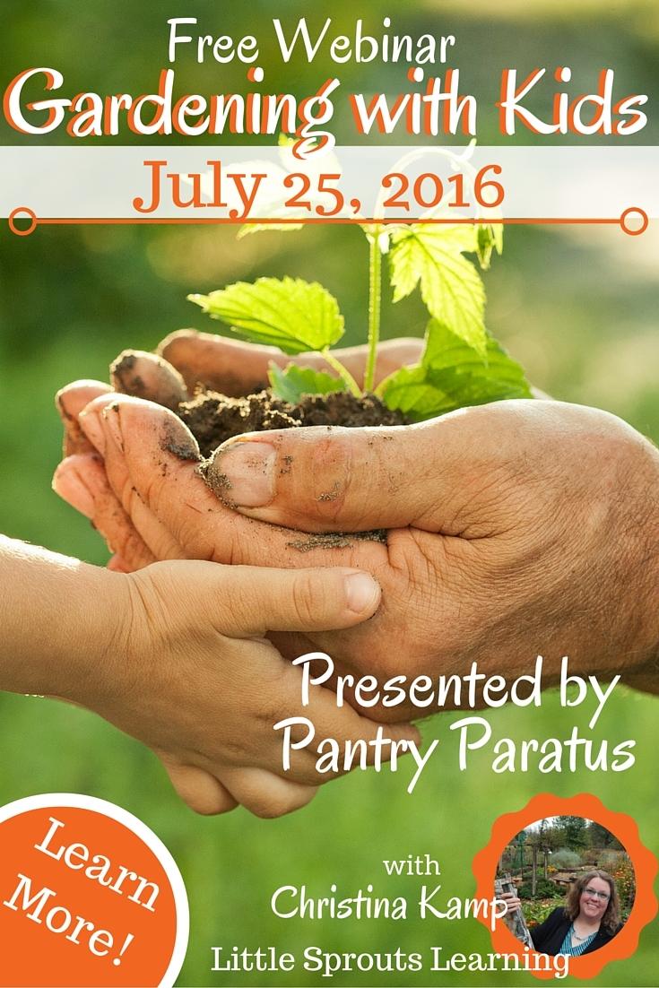 Free Webinar: Gardening with Kids