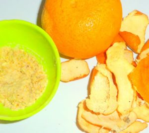 orange peel with honey
