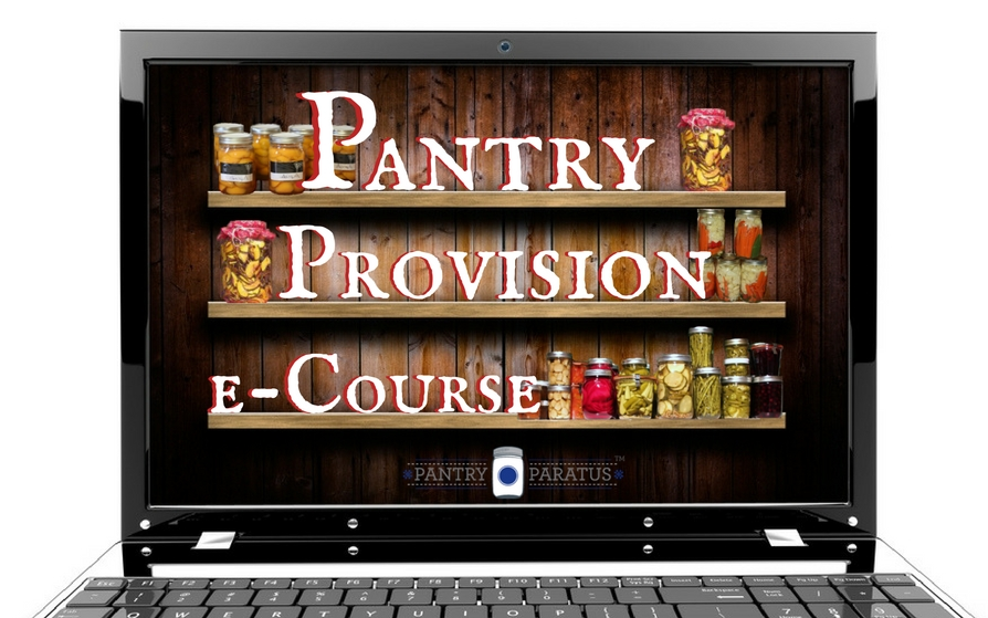 Pantry Provision e-Course only at Pantry Paratus