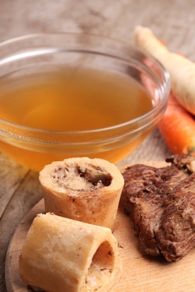 beef broth and vegetables