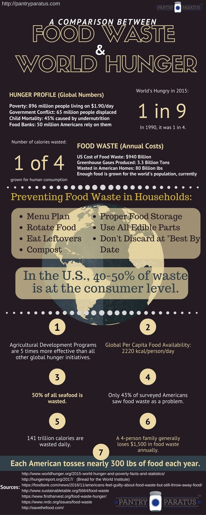 Comparison between food waste and world hunger infograph