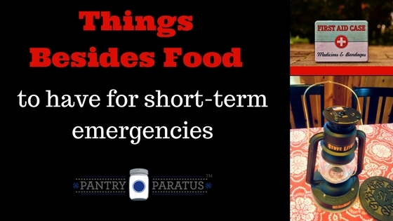 things besides food to have for short-term emergencies